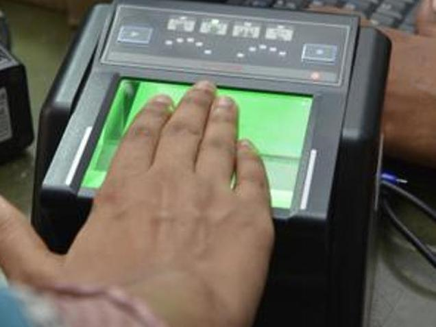 """While opinions may vary about Aadhar, the government is expected to act in the best interests of the people."" Picture shows biometric particulars being collected in Tamil Nadu. Photo: K. Ananthan"